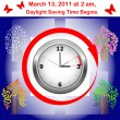 Stock Vector: Daylight saving time begins.