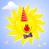 Gülümseyen güneş. — Stok Vektör