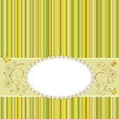 Golden vintage frame. — Stockvector