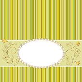 Golden vintage frame. — Stock Vector