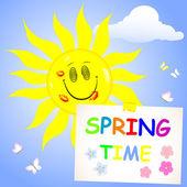 Tiempo de primavera. — Vector de stock