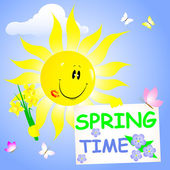 Spring time. — Vector de stock