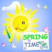 Tempo de primavera. — Vetorial Stock
