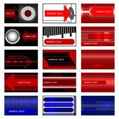 Conjunto de 15 tarjetas. — Vector de stock