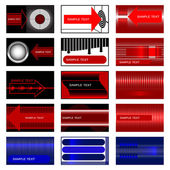 Set of 15 cards. — Vector de stock