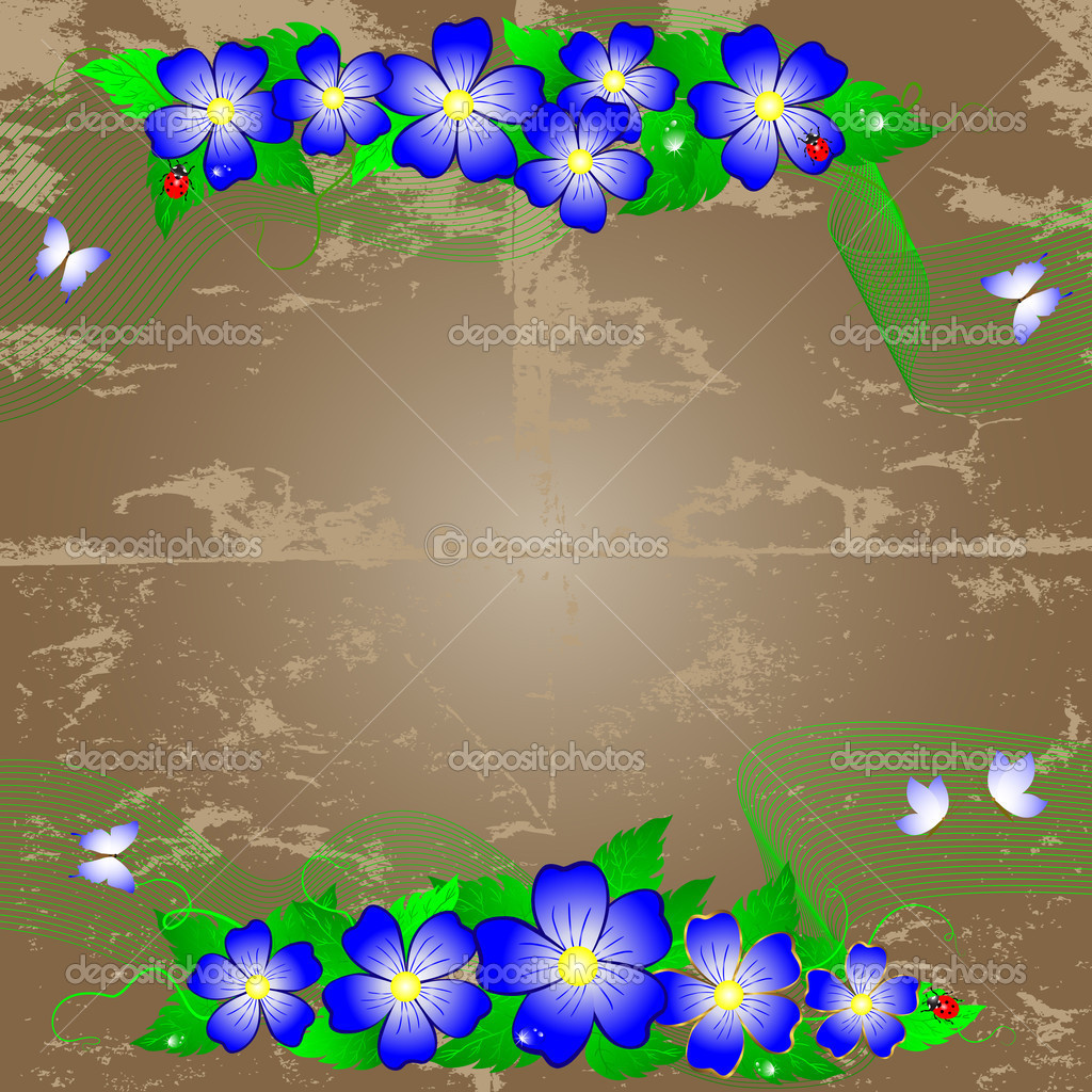 Grunge floral background. — Stock Vector © lucky777 #5343598