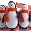 Interernaja toy a penguin — Stock Photo