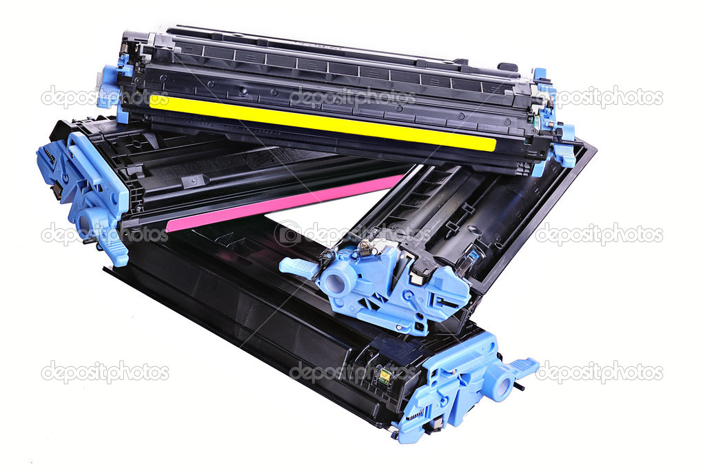Laser Printer toner cartridges on a light background — Stock Photo #5159787