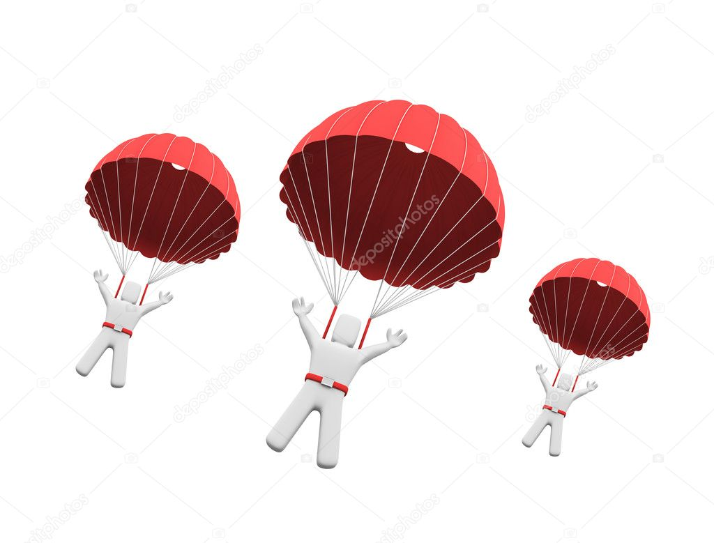 Как сделать из бумаги самолет с парашютом