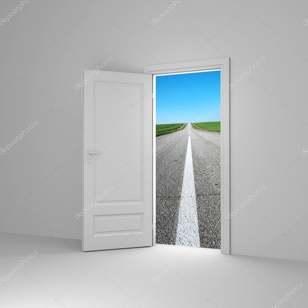 Door to new way. Conceprual image.  — Stock Photo #5029509