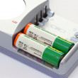 Battery charger with batteries — Stock Photo #4974606