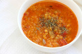 Red lentil soup — Stock Photo