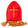Mitre als know as mijter of Sinterklaas and pepernoten - Stock Photo