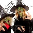 Scary green witches for Halloween — Stock Photo #4129915