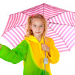 Stock Photo: Girl feel if it is raining