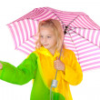 Girl feel if it is raining — Foto Stock