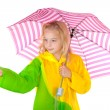 Girl feel if it is raining — Stock Photo