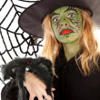 Scary green witches for Halloween — Stock Photo