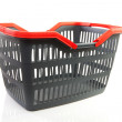 Empty grey shopping basket — Stock Photo