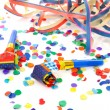 Stock Photo: Colorful party attributes