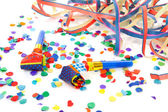 Colorful party attributes — Stock Photo