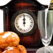 Typical Dutch tradition on new years eve — Stock Photo