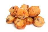桩荷兰甜甜圈也称为 oliebollen — 图库照片