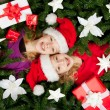 Christmas girls — Stock Photo