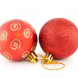 Stock Photo: Red christmas balls