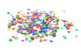 Colorful confetti — Stock fotografie