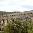 Pont du Gard aqueduct, Vers-Pont-du-Gard in South of France. - Stock Photo