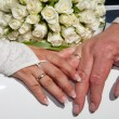 Royalty-Free Stock Photo: Hands of bride and groom