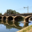 Stock Photo: Bridge for trains near Beziers in France