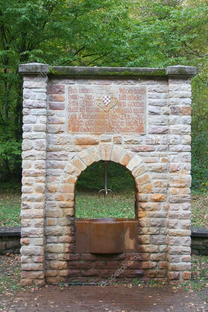 Wells with iron-containing water,Oberhambach, Germany  — Stock Photo #4772220