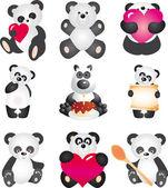 Panda. wektor zbiory — Wektor stockowy