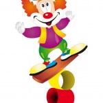Clown vector — Stock Vector