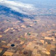 Stock Photo: Birds Eye View of Center Pivot Irrigation Farming