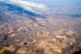 Birds Eye View of Center Pivot Irrigation Farming — Stock Photo