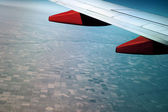 Aerial view from the window of an airplane — Stock Photo