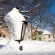 Snowy lamp post — Stock Photo #5149494