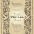 Vector de stock : Vintage frame design (vector)