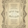 Vintage frame design (vector) - Stok Vektr