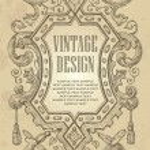 Vintage frame design (vector) — Vecteur