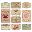 Vintage labels set (vector) — Vecteur #3966131
