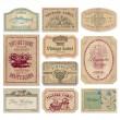 Vintage labels set (vector) — Stock Vector