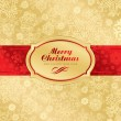 Christmas label background (vector) — Vettoriale Stock