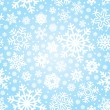 Seamless snowflakes pattern (vector) — Stock Vector #5314230