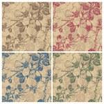 Seamless retro floral pattern (vector) — Stock Vector