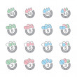 Royalty-Free Stock ベクターイメージ: Pharmaceutical dosage icons (vector)