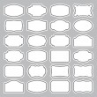 24 blank labels set (vector) — Stockvectorbeeld